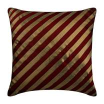 Luxury Red Pillow Shams, Stripes Textured Pintucks Pillow Shams, 24x24 inch (60x60 cm) Pillow Sham, Square Silk Pillow Shams, Striped Contemporary Pillow Shams - Unfolding Red Copper
