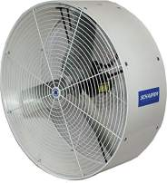 """Schaefer VK36-3 Versa-Kool 36"""" 3 Phase Deep Guard Greenhouse Circulation Fan, Made in USA, High Horizontal Airflow, 1/2 HP, 11380CFM, T-shape Mount Included, White"""