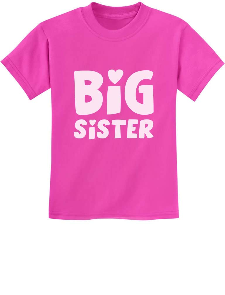 Big Sister Shirt Sibling Gift Elder Sister Cute Kids T-Shirt with Stickers
