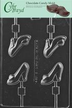 Cybrtrayd Life of the Party D108 High Heel Shoe Lolly Chocolate Candy Mold in Sealed Protective Poly Bag Imprinted with Copyrighted Cybrtrayd Molding Instructions