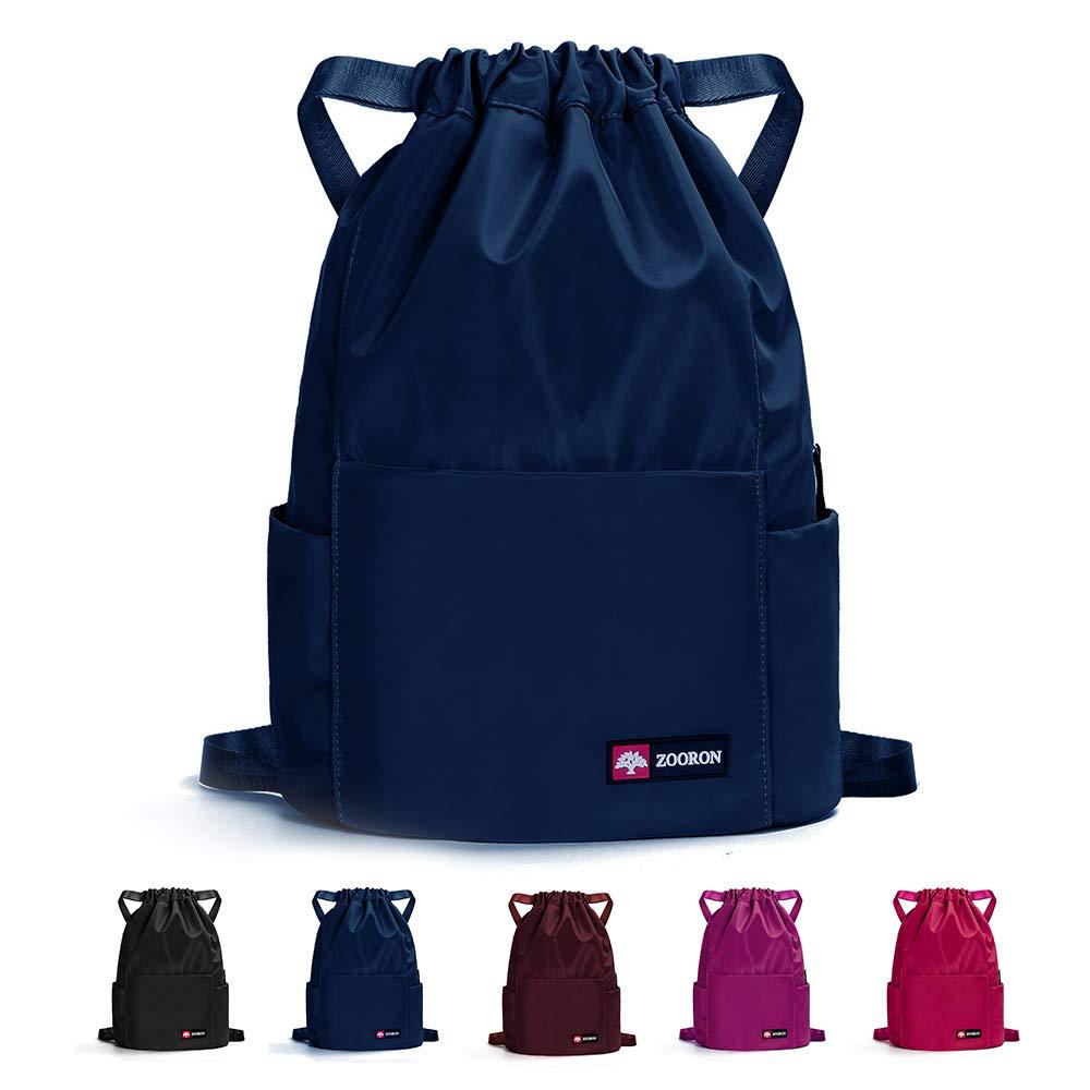 Waterproof Drawstring Gym Backpack Bag for Men & Women, Sport Gym Sack Mini Travel Daypack