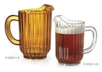 60 oz. Amber Plastic Pitcher, Dishwasher Safe, Break Resistant, for Indoor and Outdoor Entertaining, by GET P-2064-1-A-EC (Qty,1)