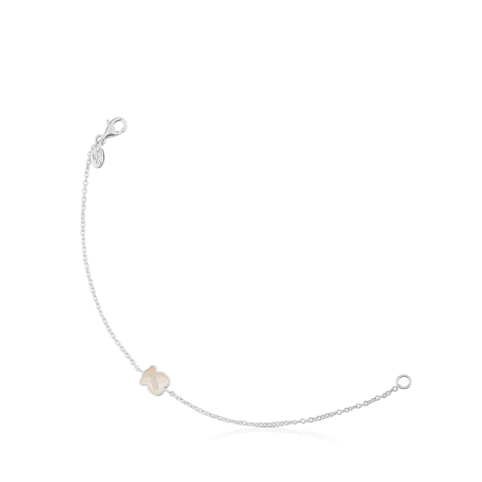 TOUS Bracelet in Sterling Silver with Nacre Bear - Length: 17.5 cm