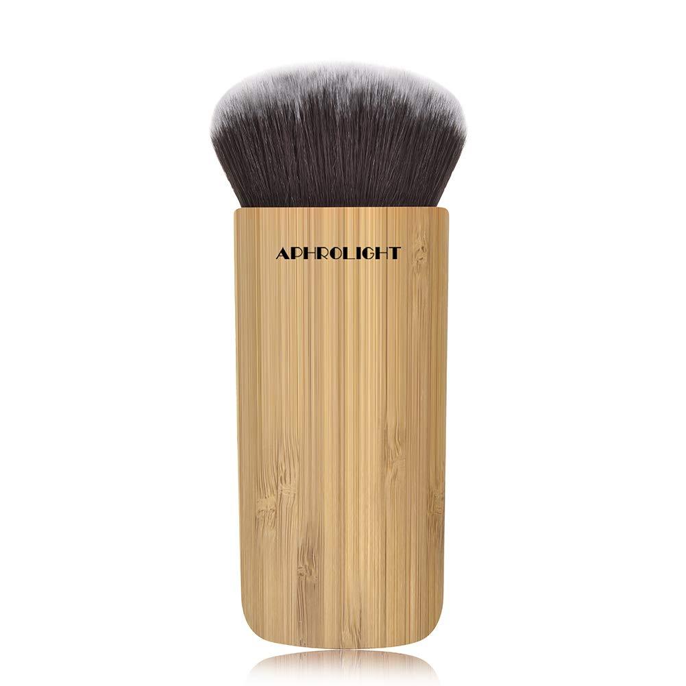Aphrolight Bamboo Foundation Makeup Brush Liquid Flat Top Kabuki Face Blush for Blending Liquid, Cream or Flawless Powder Cosmetics