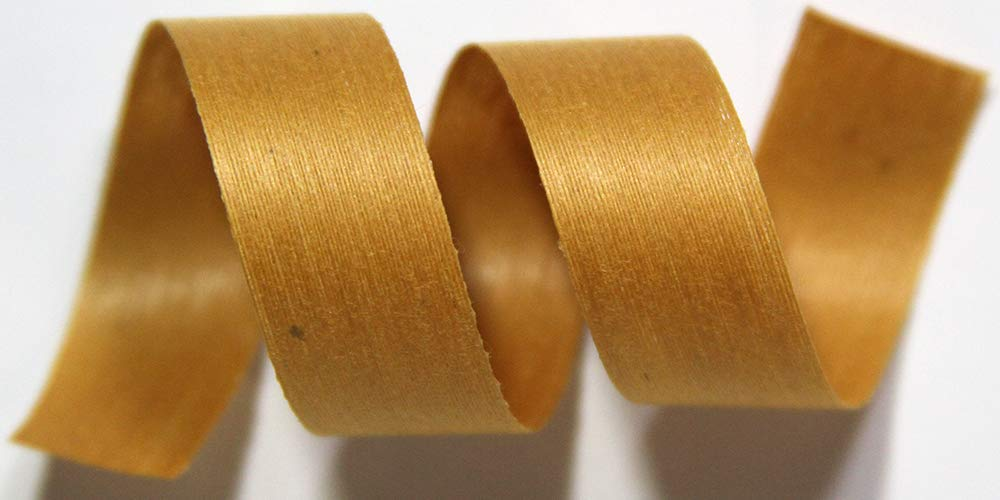 "100% Biodegradable Natural Ribbon | 33 Solid Colors | Ribbon for Crafts | Cotton Curling Ribbon | Holiday Ribbon | Wrapping Ribbon | Eco-Friendly Ribbon (Curry, 1/2"" x 250 Yards)"
