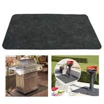 ixaer BBQ Grill Splatter Mat Non-Stick Fireproof Heat Resistant Roast Mat Floor Protective Rug for Backyard Outdoor Deck Patio(48 x 30inch)
