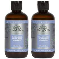 Hab Shifa Nature's Divine Secret :: Black Seed Oil Nurturing Shampoo Natural Formula Infused with Argan, Coconut and Essential Oils 8.5 Ounces (250ml) | Organic and Natural ingredients (8.5 oz) 2 pack