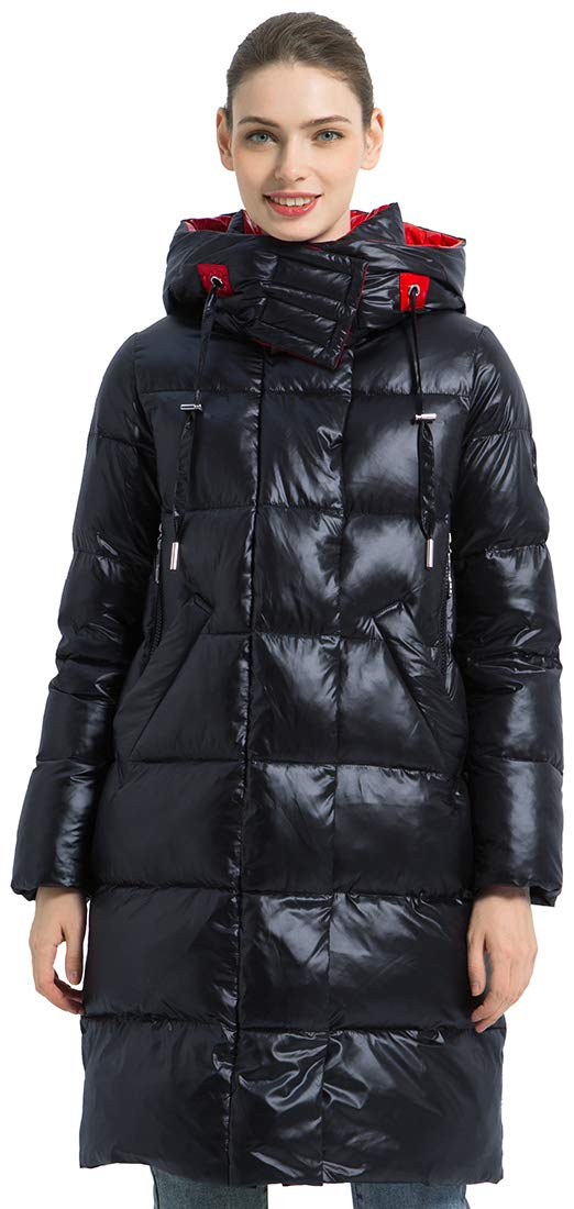 ICEbear Women's Long Down Jackets Winter Puffer Coat Warm Quilted Down Parka with Hood