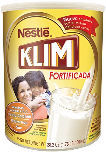 Nestle KLIM Fortificada Dry Whole Milk Powder 28.2 oz. Canister