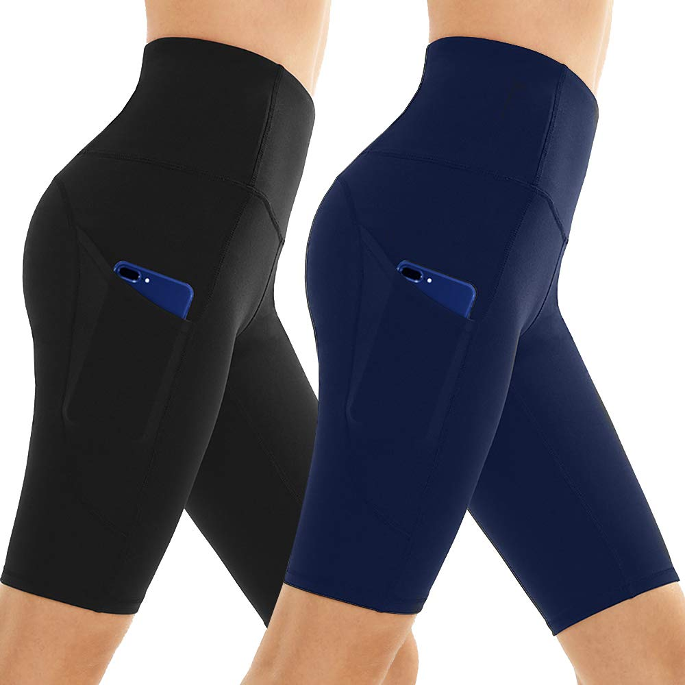 Workout Shorts for Women - High Waisted Gym Running Bike Athletic Spandex Yoga Pants Hot Pockets Women's Legging