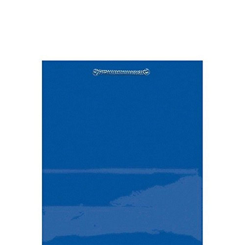Royal Blue Solid Glossy Bag Medium