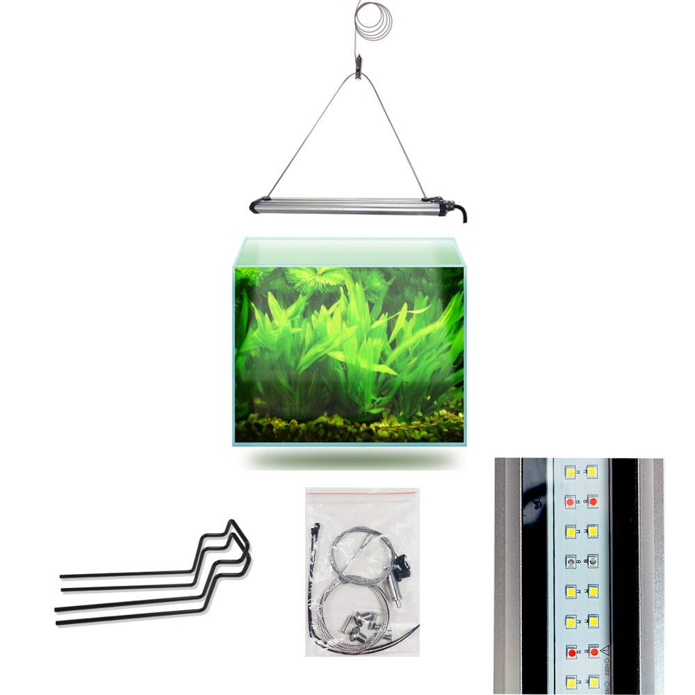 Lominie LED Aquarium Light, Saltwater Freshwater Fish Tank Light for Coral, Planted Nano Aquarium Tank (Bar 15H Freshwater)