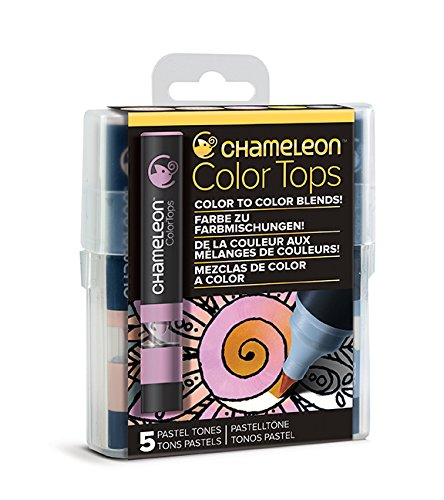 Chameleon Art Products, Pastel Tones, Color Tops, Quick and Easy Blending - Set of 5
