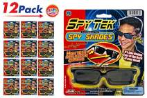 JA-RU Rearview Spy Glasses (12 Units) Spy Gear with Rearview Mirror Sunglasses Spy Gadgets for Kids and Adults Reflective Shades Gear Gadget Party Favors Pack. Plus 1 Ball   Item #1498-12p