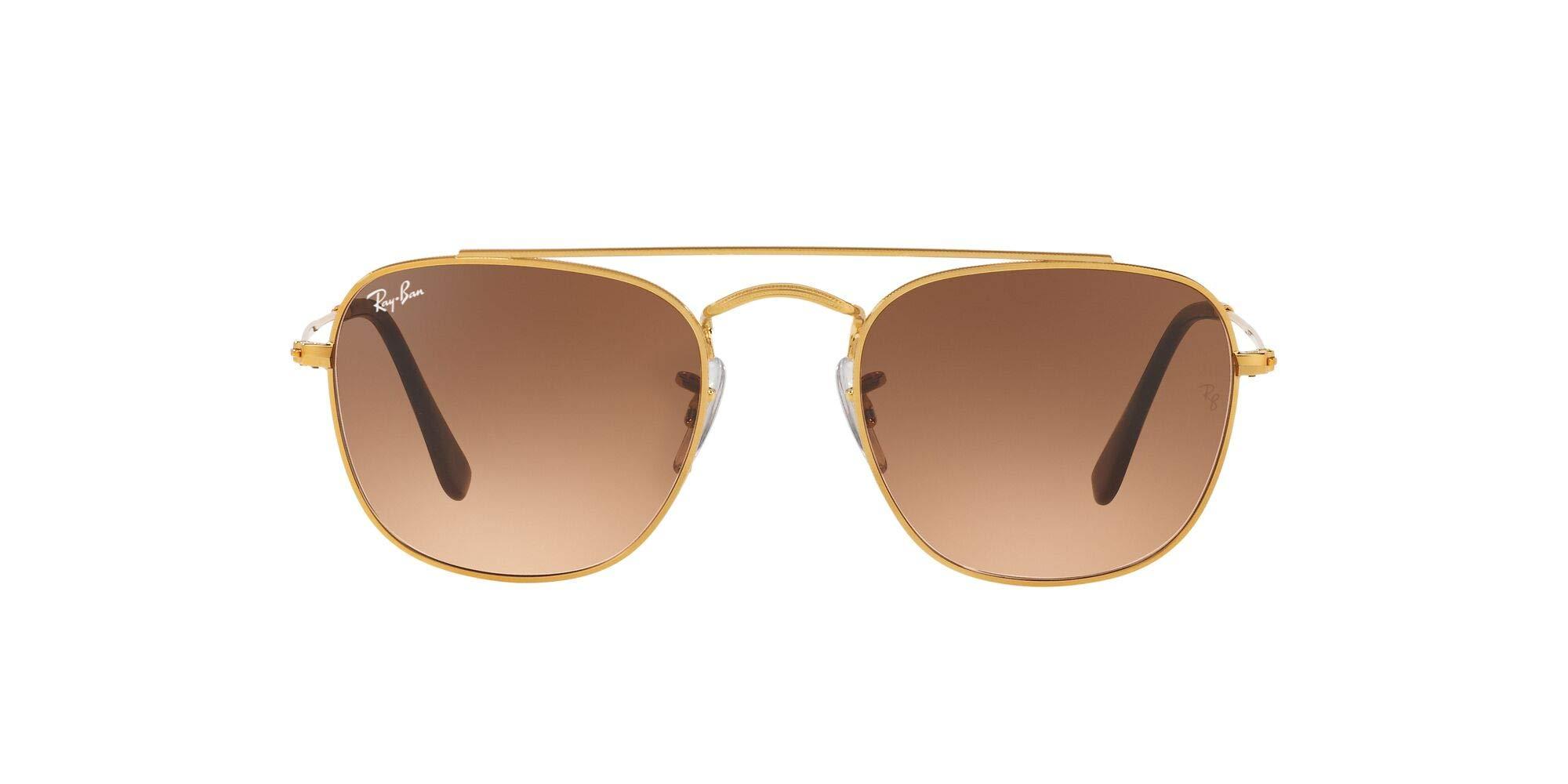 Ray-Ban Men's RB3557 Square Metal Sunglasses