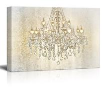 """wall26 - Chandelier on Vintage Background - Canvas Art Wall Art - 12""""x18"""""""