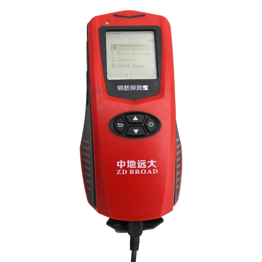 VTSYIQI Integrated Rebar Detector Rebar Locator Integrated Steel Bar Scanner With Range 1 to 120mm Concrete Protective Layer Tester LCD display