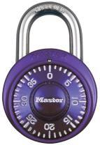 Master Lock 1526D Locker Lock Combination Padlock 1 Pack Purple