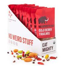 Goji Berry Trailmix Organic Bar by Mammoth Bar, No Weird Stuff, 10-12g Protein, Gluten Free and Raw, 1.8 Oz. Bar (10 Bars)