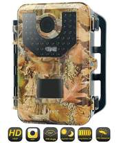 """Trail Game Camera 1080P 16MP Wildlife Hunting Camera,Motion Activated Infrared Night Vision Camera for Hunting & Home Security,2.4"""" LCD Display,IP66 Waterproof,120° FOV,48 LEDs.IDEER LIFE"""