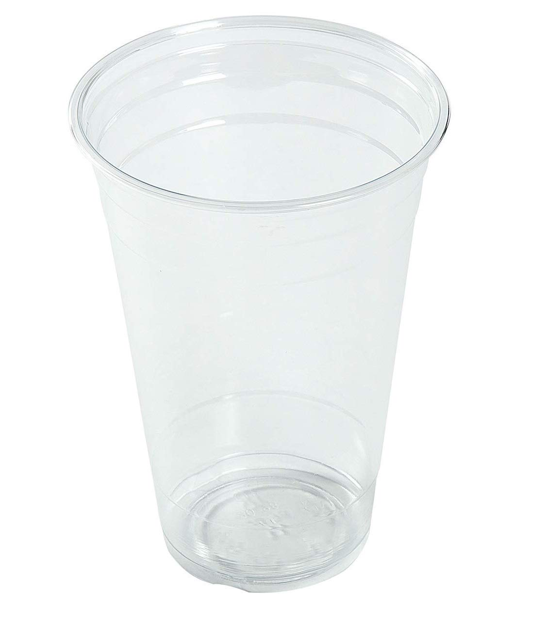 [200 Count] 16oz Clear Plastic Disposable Cups - Premium 16 oz (Ounces) Crystal Clear PET Cup (No Lids) for Cold Drinks Iced Coffee Tea Juices Smoothies Slush Soda Cocktails Beer Sundae Kids Safe