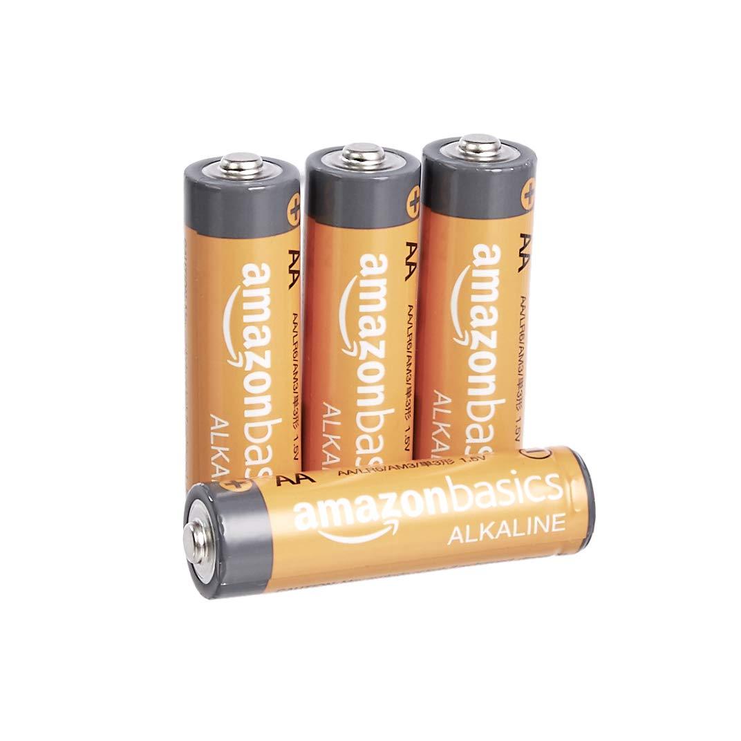 AmazonBasics AA 1.5 Volt Performance Alkaline Batteries - Pack of 4