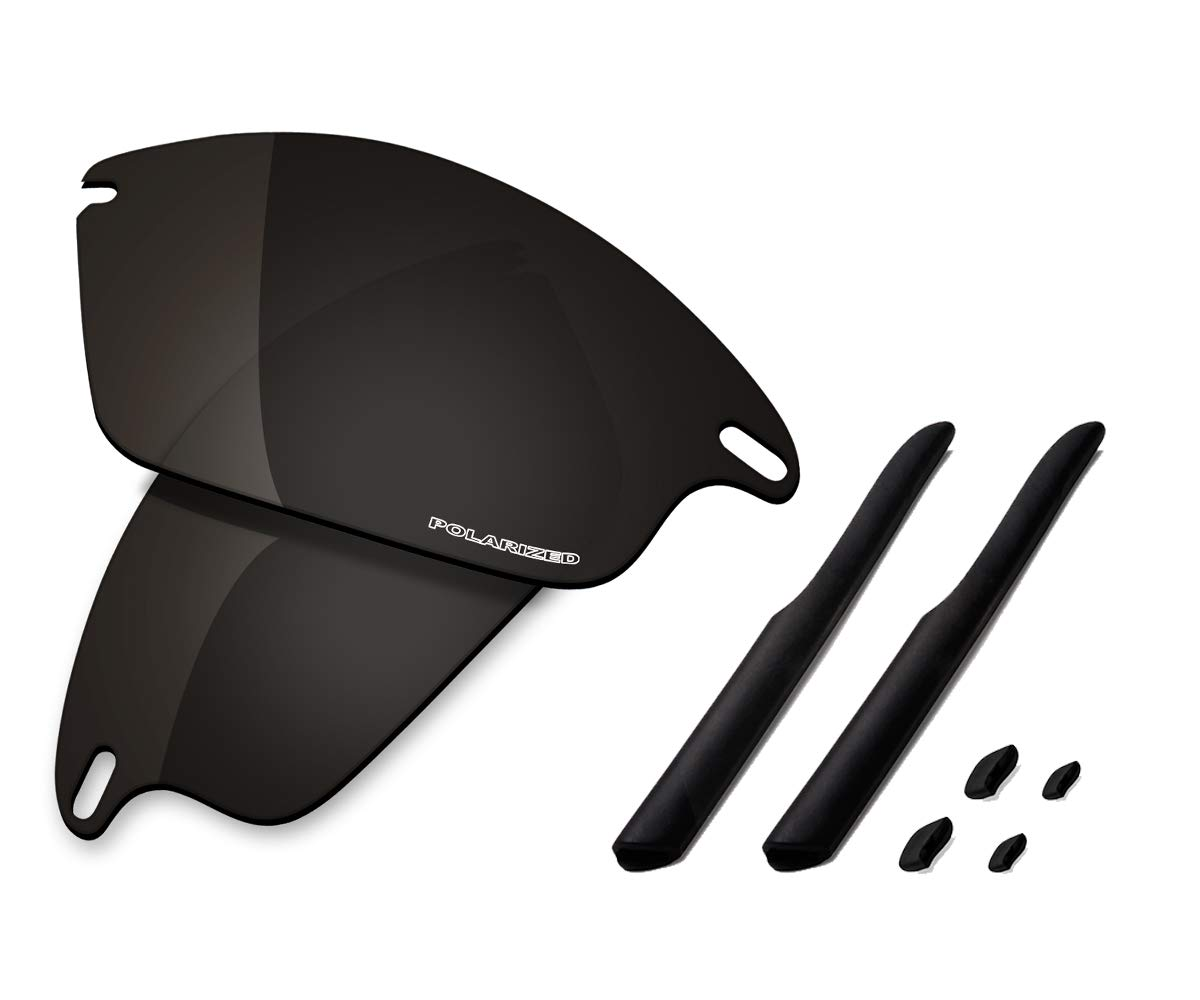 Saucer Premium Replacement Lenses & Rubber Kits for Oakley Fast Jacket OO9097 Sunglass