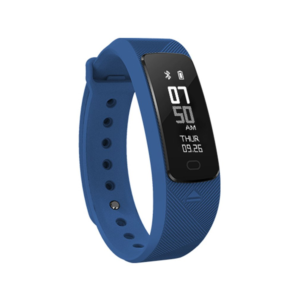SMA-B2 Fitness Tracker Smart Wristband,Blood Pressure,Dynamic Heart Rate,IP68 Waterproof,USB Charging,Activity Tracking,Smart Bracelet Compatible with iPhone/Android,for Men/Women