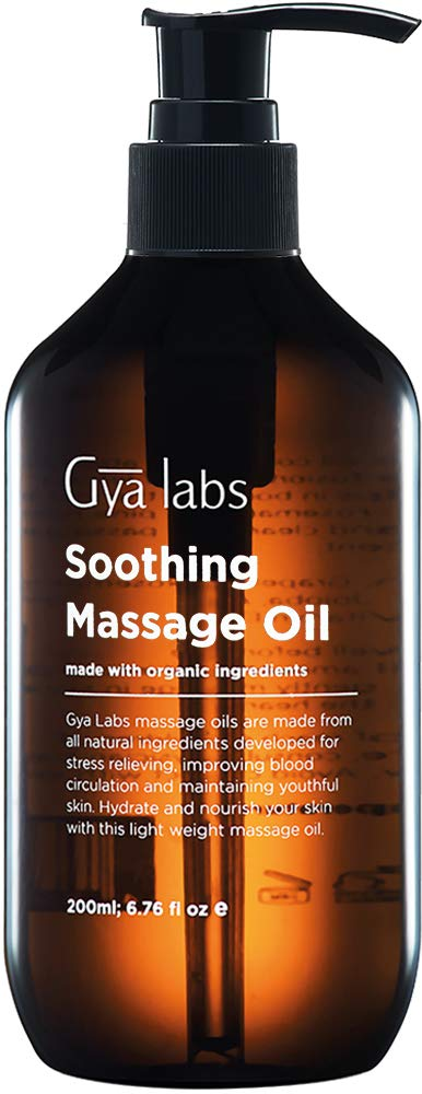 Soothing Massage Oil for Sore Muscles - A Reinvigorating Wave of Peppermint, Eucalyptus and Organic Argan Oil - 6.76 fl oz (200ml)
