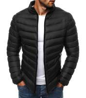 Mens Packable Down Jackets Classic Winter Puffer Lightweight Puffer Water Resistant Bomber Coat