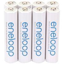 Panasonic BK-4MCCA8BA eneloop AAA 2100 Cycle Ni-MH Pre-Charged Rechargeable Batteries, 8 Pack