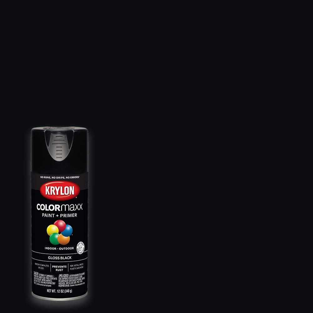 Krylon K05505007 COLORmaxx Spray Paint, Aerosol, Black
