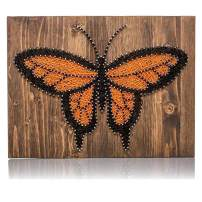 String Art Kit - Monarch Butterfly Decor, Butterfly String Art, Adult Craft Set, DIY Kit, Arts and Crafts Set, Nail Art, Crafts Kit, DIY Crafts - Includes Pattern, String, Nails, and Instructions
