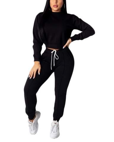 Women/'s Bodycon Sports Yoga Mesh Crop Top Pants Two Pieces Jumpsuit Set V-neck