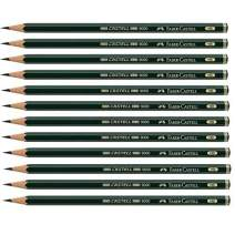 Faber-Castell Pencils, Castell 9000 Art graphite pencils, HB No.2 Pencil for drawing, writing, sketch, shading, artist, school supplies pencils - 12 pack (HB)