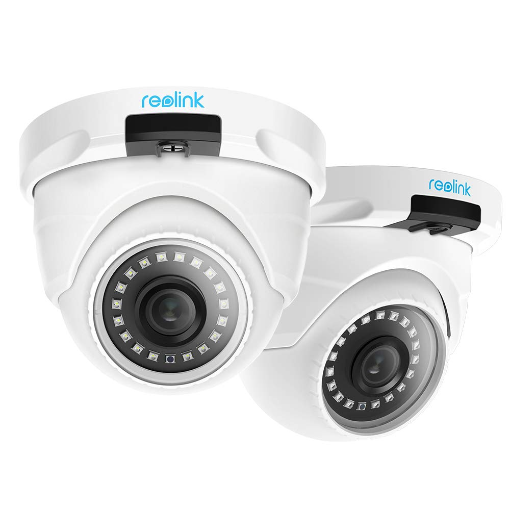Reolink 4MP (2560x1440) Super HD (2 Pack) PoE Camera System Outdoor Video Surveillance Home IP Security IR Night Vision Motion Detection Dome Camera Audio Support w/Phone App RLC-420