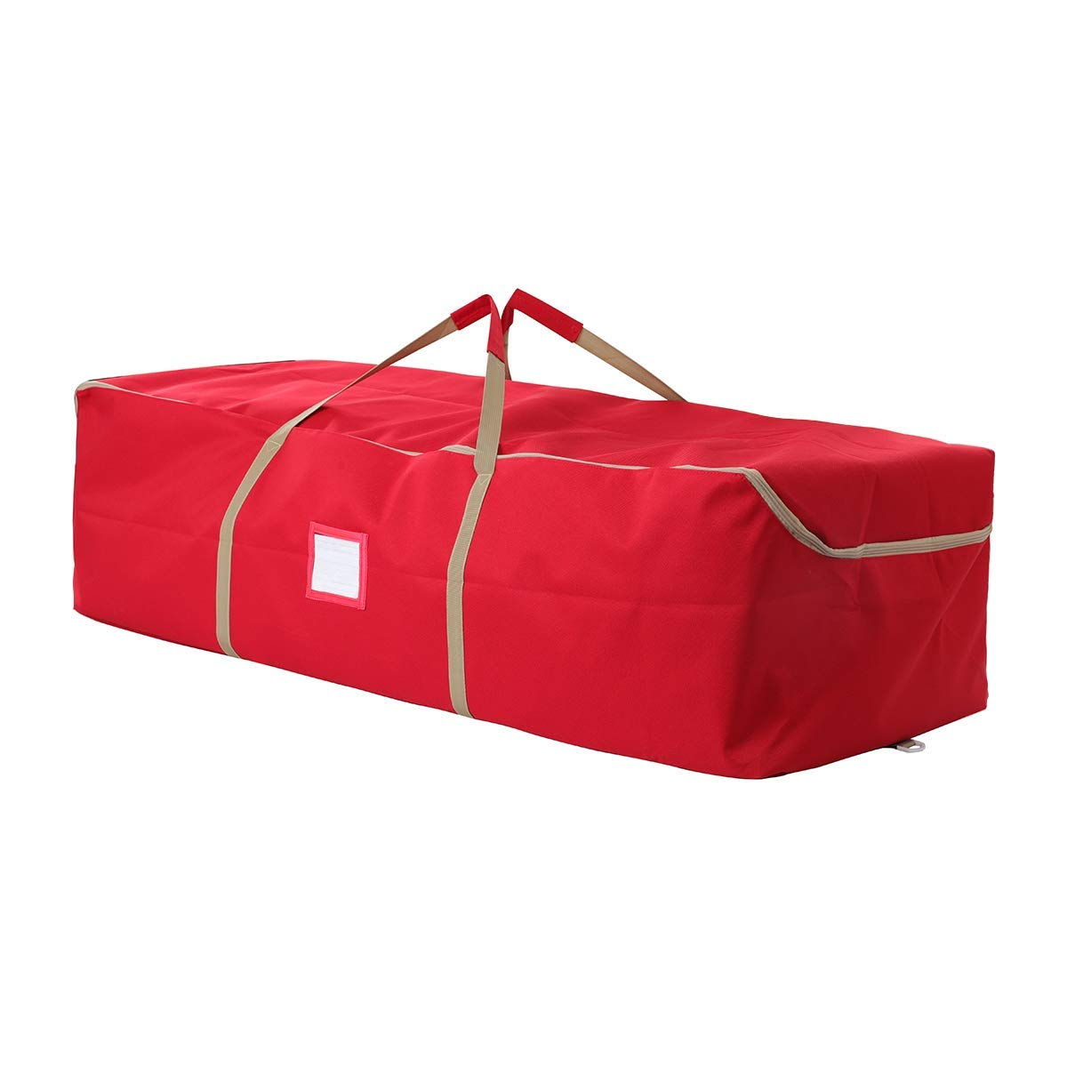 """iiSPORT Christmas Tree Storage Bag Large Holiday Storage Duffel Bags Containers Made of 600D Oxford, 49"""" Long X 20"""" Wide X 14"""" Height, Red"""