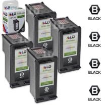 LD Remanufactured Ink Cartridge Replacements for HP 96 C8767WN High Yield (Black, 4-Pack)