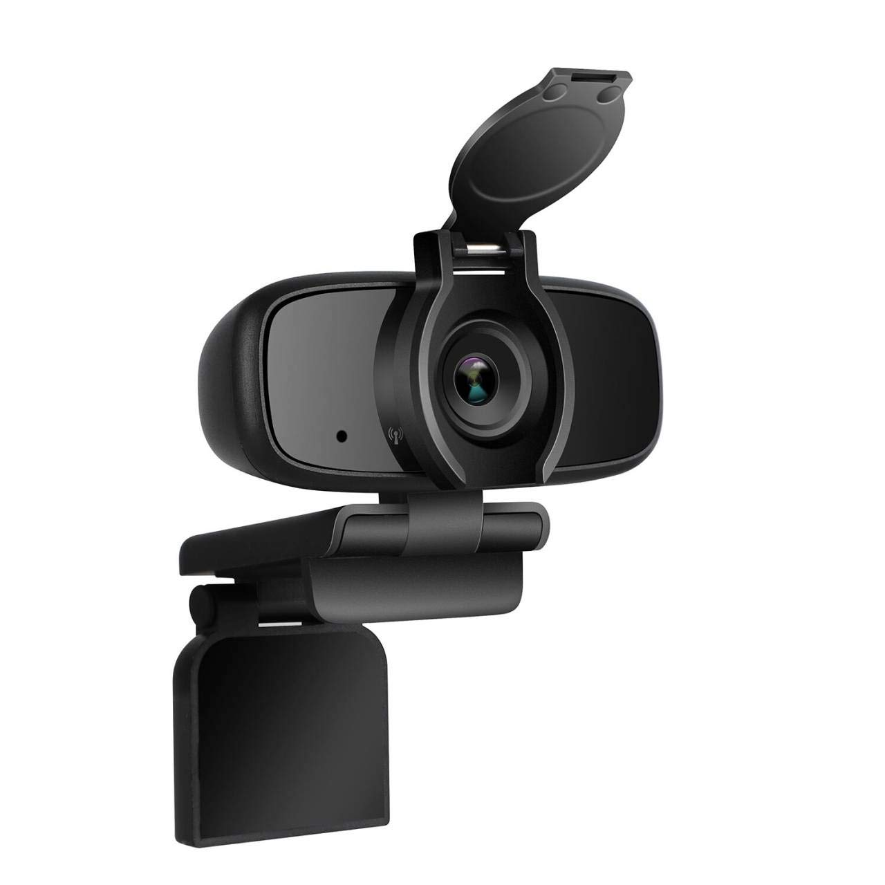 ZILINK 1080P Full HD Webcam, Computer and Laptop Camera, USB Webcam Stereo Audio Support Recording, Plug and Play for Conference and Video Call, Flexible Rotatable Clip