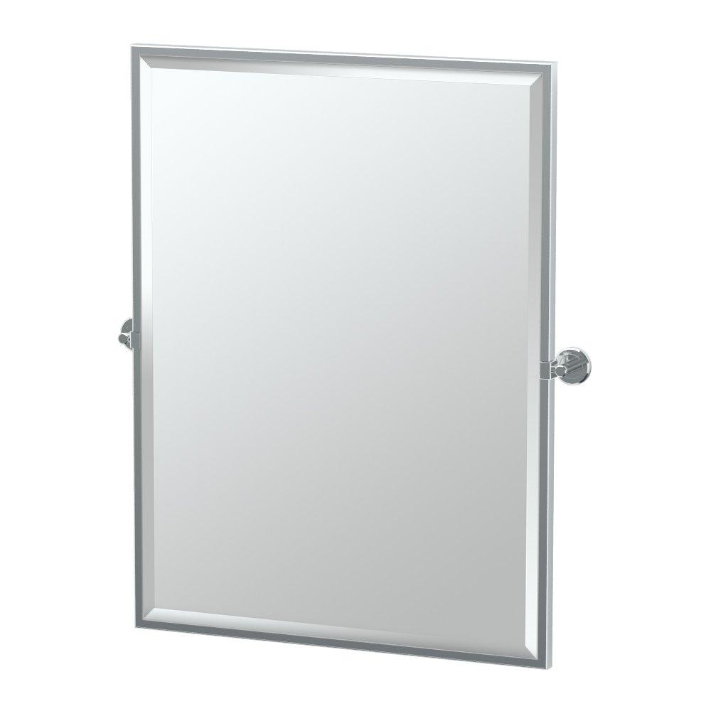 Gatco Latitude II Rectangle Mirror,, Chrome, 32.5 Inch, Framed Rectangle
