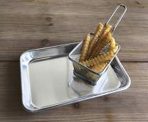 "G.E.T. Enterprises MT-960-SS 9"" x 6"" Rectangular Aluminum Serving Tray (Tray Only)"