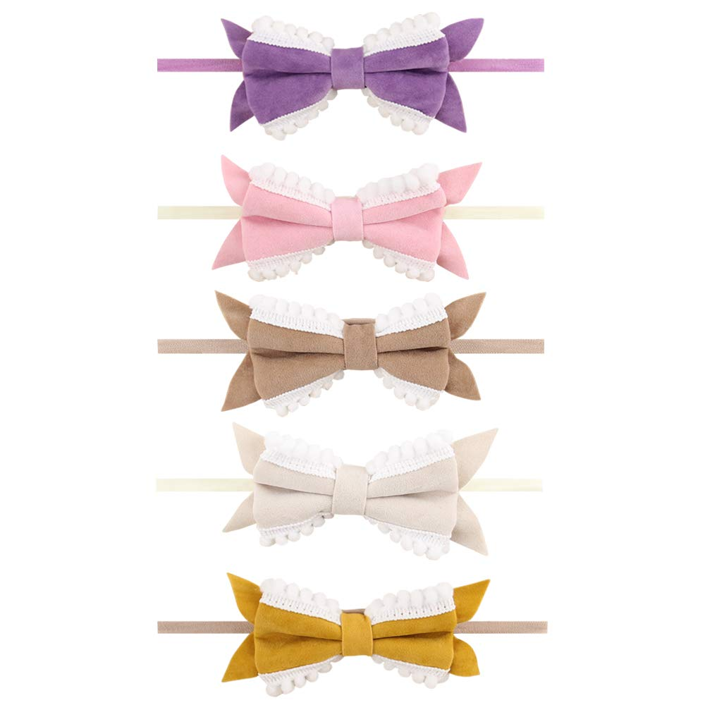 Baby Girl Headbands, AOKE Head Wraps Hairband and Bows for Newborn Infant Toddler, Child Hair Accessories