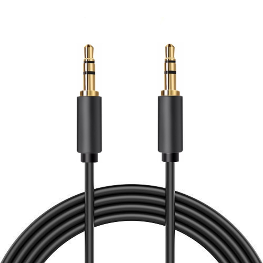 3.5 mm Male to Male Stereo Audio Cable, Gold Plated, Slim Connector, Nextronics (15ft | 4.5M)