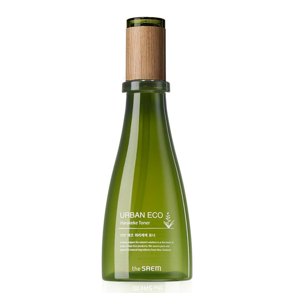 [the SAEM] Urban Eco Harakeke Toner 180ml - 90&% Harakeke Extract, Firming Gel Type Fresh Moisturizing Facial Toner, Skin Soothing & Purifying