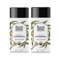 Nourish Organic Stick Deodorant, 100% Natural, Almond Vanilla, 2 Count