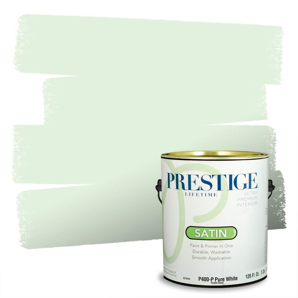 Prestige, Greens and Aquas 4 of 9, Interior Paint and Primer In One, 1-Gallon, Satin, Antilles Green