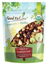 The Magnificent Seven Mix, 8 Ounces — Raw Organic Nuts and Berries including Almonds, Cashews, Hazelnuts, Macadamias, Walnuts, Cranberries, Raisins. Non-GMO, Non-Irradiated, Vegan Superfood, Bulk