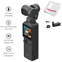 FIMI Palm XIAOMI 3 Axis Gimbal Stabilizer with 4K Smart Camera, 128° Ultra Wide Angle Lens, Wi-Fi & Bluetooth Connection, Built-in MIC and External MIC Supported, W Backpack Clip Extension Holder