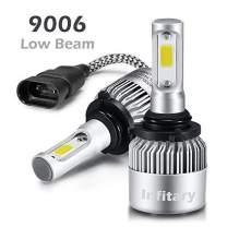 INFITARY 9006 HB4 LED Headlight Bulbs Conversion Kit H4/9003/HB2 Hi/Lo Beam Super Bright COB Plug Play Auto Car Motorcycle Headlamp Bulb 10000LM 6500K Cool White LED Headlight Bulbs