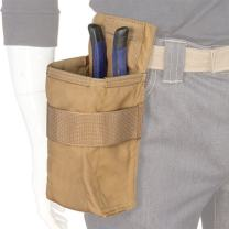 Atlas 46 AIMS Vertical Fastener Pouch with Plier Sheath, Coyote | Hand crafted in the USA